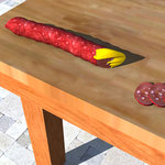 Pepperoni and melted cheese by Mann-of-LaMancha