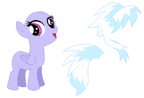 Filly Cloudchaser Base by SelenaEde