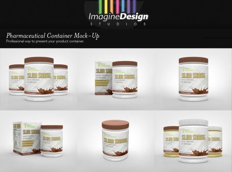 Pharmaceutical Container Mock-Up by idesignstudio