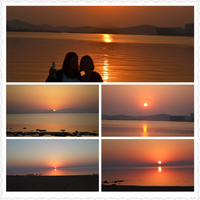 Sunset collage by Laura-in-china