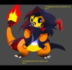Charmander as Akumu by ZzNightmareGirlzZ