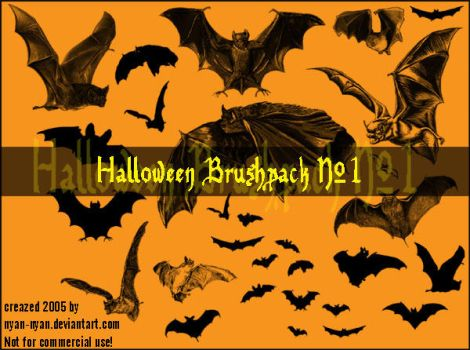 Halloween Brushpack No.1 by nyan-nyan