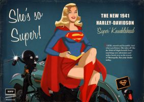 Supergirl 'Super Knucklehead' Harley commission by DESPOP