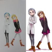 elsa and anna Fashion by faiz333