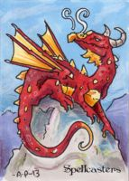 Red Dragon sketch card by artyewok