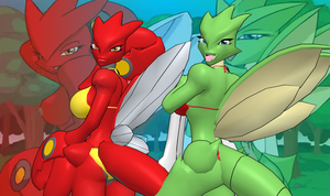 Pokemon Snap XXX - Scizor and Scyther for XPS by Disembowell