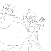 Fat Ash with Misty by PlushBoomer