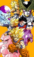 Dragon Ball Z Heroes and Villains by wesleygrace58