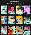 2015 Summary Of Art -- Year of HELL by ochibrochi