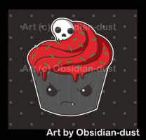 Deliciously evil cupcake by Obsidian-dust