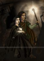 Ged and Tenar by Monica-NG