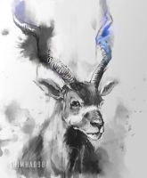 Inktober day 01 Addax by shimhaq98