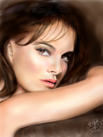 iPad finger painting of Natalie Portman by chaseroflight