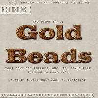 PS Style: GOLD BEADS by HGGraphicDesigns