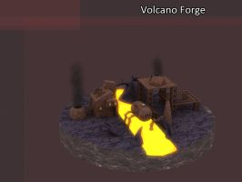 Volcano Forge by Poopgoblyn