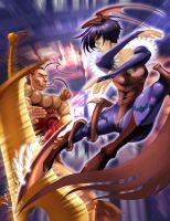 Darkstalkers- Lil vs Dono by SandsGonzaga