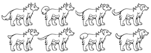 Free Dogs Lineart by Vosska