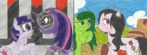 Look out, there're more Ponies! by OneWingedDaemon