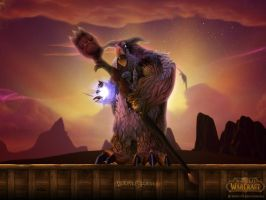 Tauren Moonkin Form WP by Triggerman