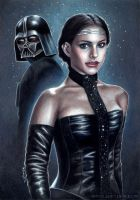 Padme and Vader by SvenjaLiv