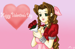 Aerith - Valentine's Day by Akari-K