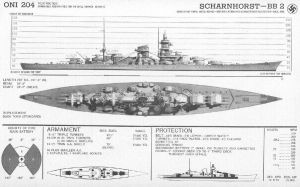 Technical Drawings: KMS Scharnhorst by bwan69
