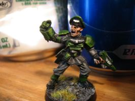 Imperial Guard Officer by Kufspawn