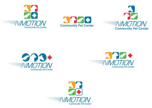 NMotionCommunCenter logo drafts by ArtiestDesign
