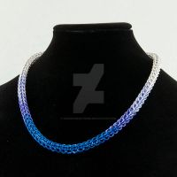 Blue/Purple Graduated Full Persian Necklace by chef-chad