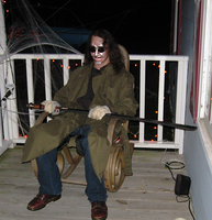 Halloween 2008 - Front Porch Psycho by technodrumguy