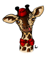 Giraffe in Fez by SilveronWolf