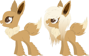 FOR SALE - Eevee Pokepony Thing by Toxijen