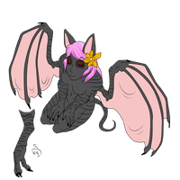 Custom Anthro Adoptable - Female Fruit Bat by ShadowInkAdopts