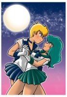 Sailor Uranus and Neptune by Thormeister