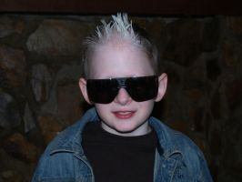 kid with sunglasses stock B by Irie-Stock