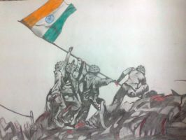 Indian Flag by 16sweety