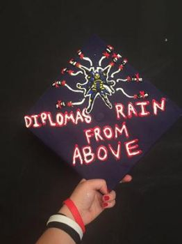 Friend Just made a Overwatch themed graduation cap by TurtleNade