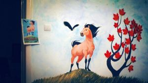 wall painting - spirit by raaab
