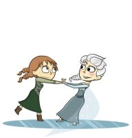 Elsa and Anna by TheCoolCactus