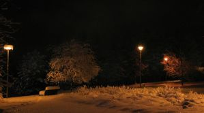Lonely winter night by KariLiimatainen