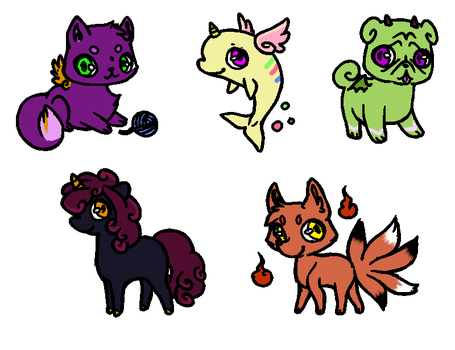 Free Mythic Creature Adopts CLOSED by BrittDubsbases
