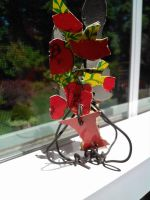 flowers i made out of a match box and some wire by lucydeadmoon