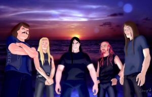 Metalocalypse Drawing +BG 06 by andys184