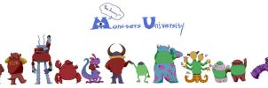 Monsters University One Anniversary by Shanran