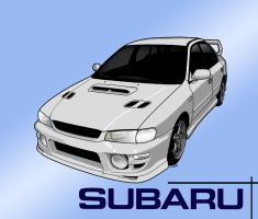 '93 Subaru Impreza Toon by Knowleso