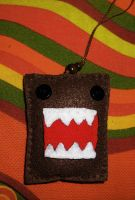 Domo Kun phone ornament by Dollface-RYJ