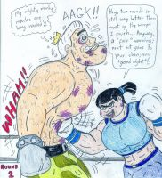 Boxing Eva vs Jorgen Von Strangle by Jose-Ramiro