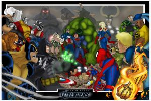 Man of Steel Avengers: Worlds collide by Helmsberg