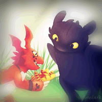 Toothless and Guilmon by SahGlam29