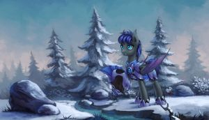 Frozen woods by Asimos